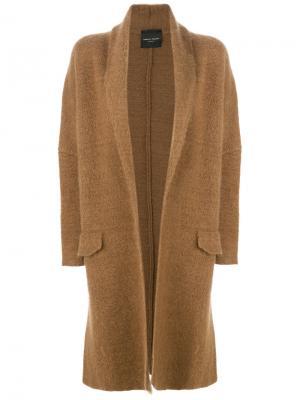 Пальто с карманами клапанами Roberto Collina. Цвет: коричневый