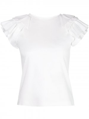Блузка Cassis с оборками на рукавах Alexis. Цвет: белый
