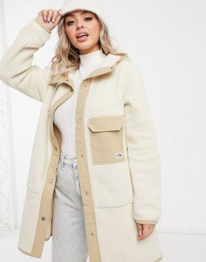 Бежевое флисовое пальто Cragmont-Бежевый The North Face