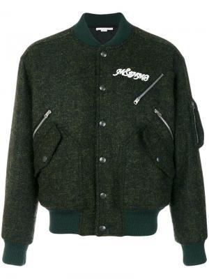 Классическая куртка-бомбер Stella McCartney. Цвет: зеленый