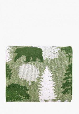 Одеяло 2-спальное Arloni. Цвет: зеленый