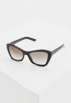 Очки солнцезащитные Prada 0PR 07XS 1AB0A7. Цвет: черный