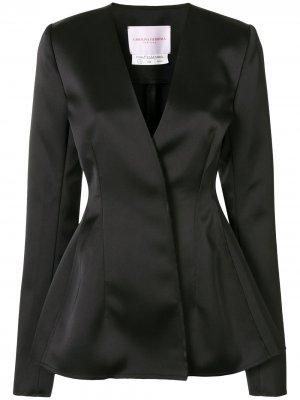 Приталенный расклешенный пиджак Carolina Herrera. Цвет: черный