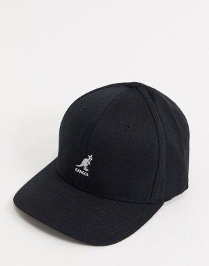 Черная бейсболка с добавлением шерсти -Черный Kangol