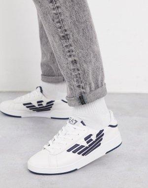 Белые кроссовки с логотипом Armani Millenium-Белый EA7