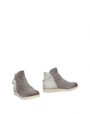 Полусапоги и высокие ботинки INK. Цвет: светло-серый