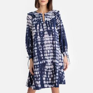 Платье свободного покроя с рисунком тай-энд-дай ANTIK BATIK. Цвет: темно-синий