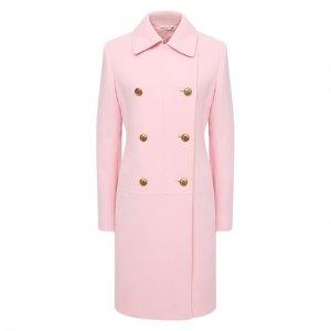 Шерстяное пальто Givenchy. Цвет: розовый