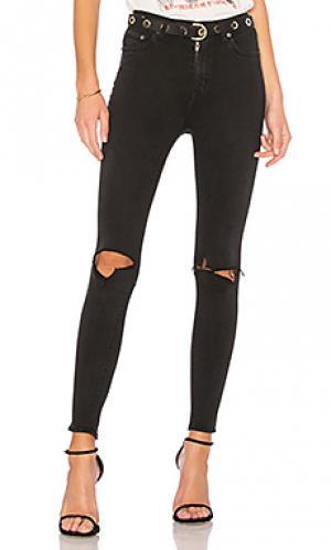 Узкие джинсы высокой посадки mason Lovers + Friends. Цвет: none