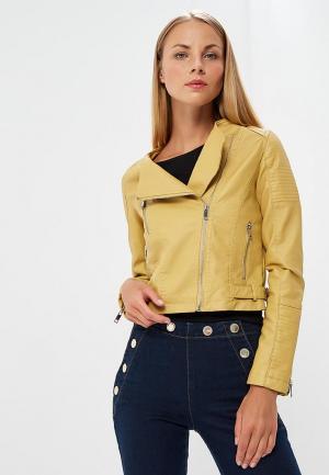 Куртка кожаная Z-Design. Цвет: желтый