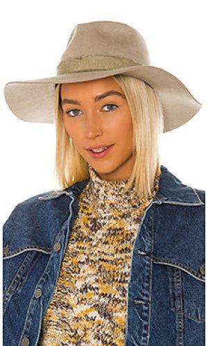 Шляпа федора ella Brixton. Цвет: серо-коричневый