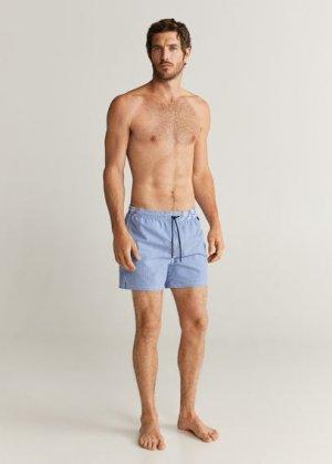 Плавательные шорты сирсакер - Seerblue Mango. Цвет: синий