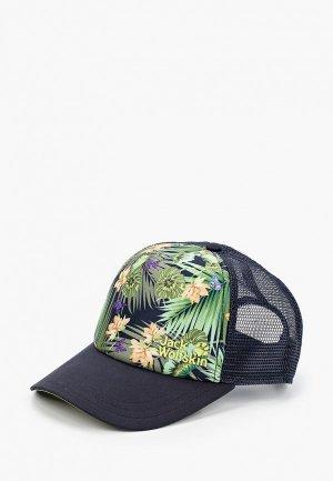 Бейсболка Jack Wolfskin PARADISE CAP WOMEN. Цвет: синий