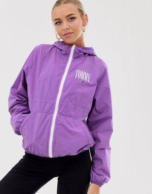 Ветровка на молнии с логотипом -Фиолетовый Tommy Jeans