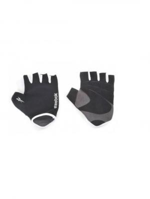 Перчатки для фитнеса Reebok  S/M серый. Цвет: серый, антрацитовый