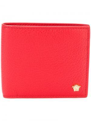 Складной кошелек с бляшкой головой Медузы Versace. Цвет: красный