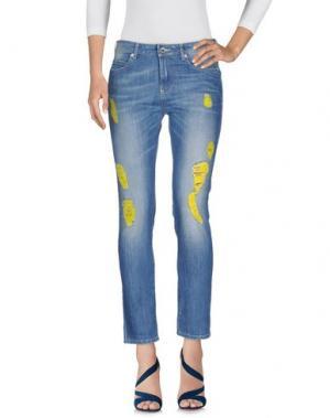 Джинсовые брюки PIANURASTUDIO. Цвет: синий
