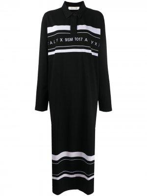 Рубашка поло свободного кроя с логотипом 1017 ALYX 9SM. Цвет: черный