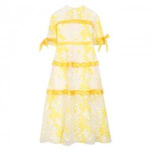Платье Yudashkin Kids. Цвет: жёлтый