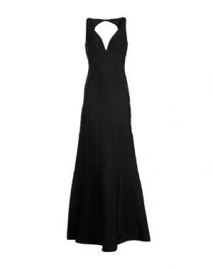 Длинное платье HERVÉ LÉGER. Цвет: черный
