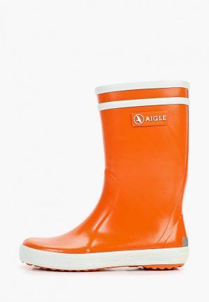 Резиновые сапоги Aigle. Цвет: оранжевый