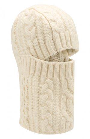 Шерстяная шапка-балаклава Sacai. Цвет: белый