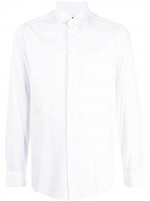 Рубашка из джерси с длинными рукавами Emporio Armani. Цвет: белый