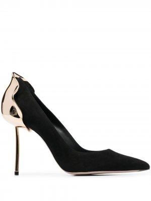 Туфли-лодочки на скульптурном каблуке Le Silla. Цвет: черный