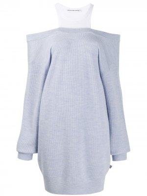 Трикотажное платье-джемпер T By Alexander Wang. Цвет: синий