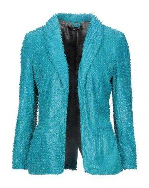 Пиджак DACUTE. Цвет: бирюзовый
