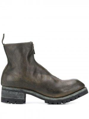 Ботинки на молнии спереди Guidi. Цвет: зеленый