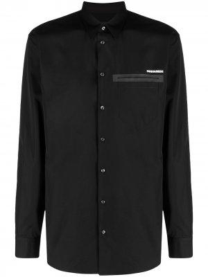 Рубашка с длинными рукавами и логотипом Dsquared2. Цвет: черный