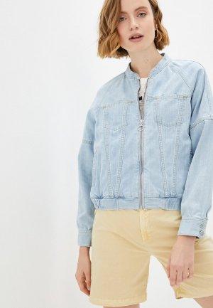 Куртка джинсовая Pepe Jeans IZZY. Цвет: голубой