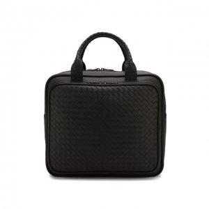 Кожаная дорожная сумка Bottega Veneta. Цвет: коричневый