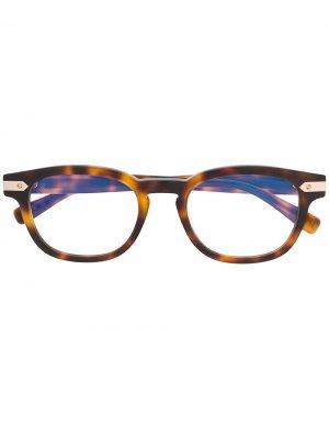 Очки в круглой оправе черепаховой расцветки Hublot Eyewear. Цвет: коричневый
