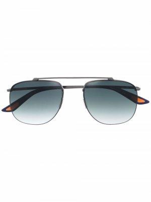 Солнцезащитные очки-авиаторы с эффектом градиента Christian Roth. Цвет: черный