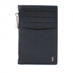 Кожаный футляр для кредитных карт Serapian. Цвет: синий