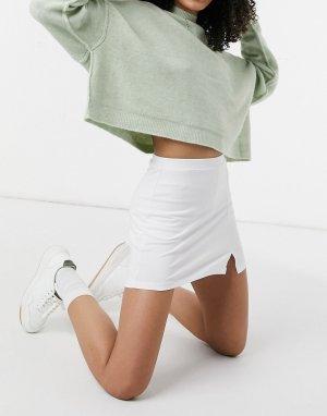 Белая теннисная юбка-шорты -Белый ASOS DESIGN