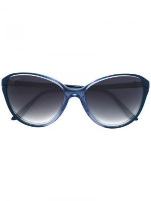 Солнцезащитные очки Double C Décor Cartier. Цвет: синий
