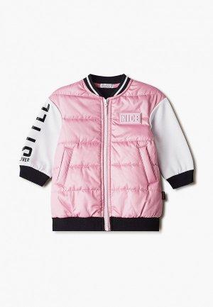 Куртка Gulliver. Цвет: розовый