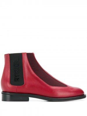 Ботинки челси с логотипом Sonia Rykiel. Цвет: красный