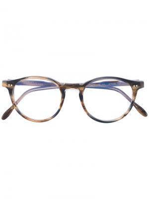 Очки с круглыми линзами Pantos Paris. Цвет: коричневый