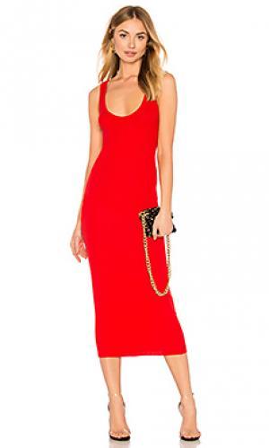 Платье-майка Enza Costa. Цвет: красный