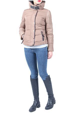 Куртка EVA Milano. Цвет: бежевый