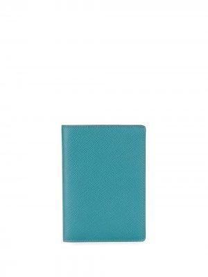 Обложка для паспорта Panama Smythson. Цвет: синий