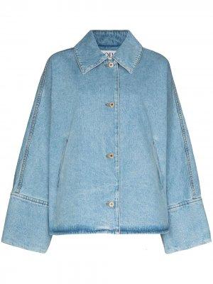 Джинсовая куртка с широким воротником LOEWE. Цвет: синий