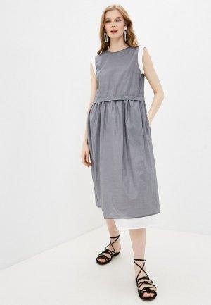 Платье Cappellini. Цвет: серый
