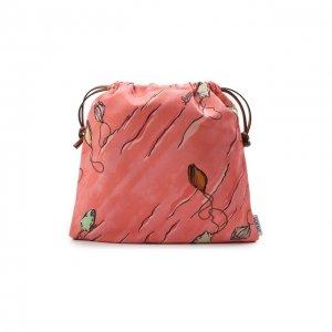 Клатч Drawstring small x Paulas Ibiza Loewe. Цвет: розовый