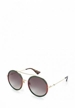 Очки солнцезащитные Gucci GG0061S003. Цвет: зеленый