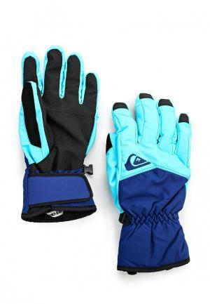 Перчатки Quiksilver. Цвет: синий